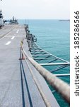 Small photo of Runway at takeoff on battleship and Runway Aircraft Carrier