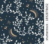celestial floral seamless... | Shutterstock .eps vector #1852878652