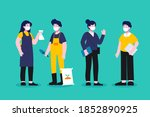 male and female character... | Shutterstock .eps vector #1852890925