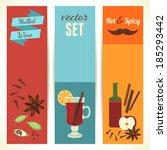 mulled wine theme  set of... | Shutterstock .eps vector #185293442