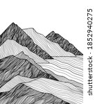 abstract mountain line art... | Shutterstock .eps vector #1852940275