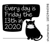every day is friday the 13th in ... | Shutterstock .eps vector #1852944598