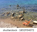 View Of Rocky Beach With One...