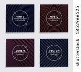abstract plate music album... | Shutterstock .eps vector #1852966525