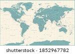 world map vintage political   ... | Shutterstock . vector #1852967782