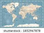detailed vintage old style... | Shutterstock . vector #1852967878