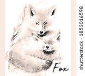 Vintage Hand Drawn Fox....