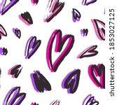 neon colors brushstroke hearts... | Shutterstock .eps vector #1853027125