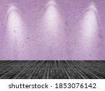 empty painted pink color wall... | Shutterstock . vector #1853076142