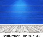 wood blue planks wall and floor ... | Shutterstock . vector #1853076238