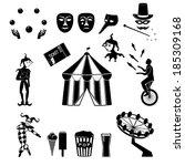 circus  vector. amusement park... | Shutterstock .eps vector #185309168