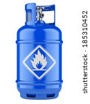 blue propane cylinders with...   Shutterstock . vector #185310452