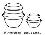 Two Kind Jar And Pot  Of Onggi. ...