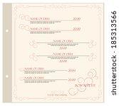 restaurant menu design template ... | Shutterstock .eps vector #185313566