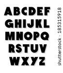 bold alphabet font type. vector ... | Shutterstock .eps vector #185315918