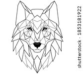 wolf head icon. abstract... | Shutterstock .eps vector #1853181922
