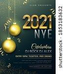 new year 2021 celebration... | Shutterstock .eps vector #1853183632
