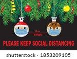 christmas balls santa and elf... | Shutterstock .eps vector #1853209105