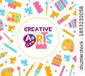 creative arts banner template ... | Shutterstock .eps vector #1853232058
