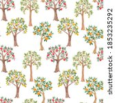 beautiful seamless pattern with ... | Shutterstock . vector #1853235292
