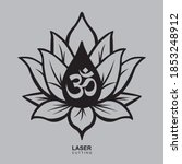 lotus graphic for cut. template ... | Shutterstock .eps vector #1853248912