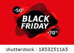 black friday sale banner.... | Shutterstock .eps vector #1853251165