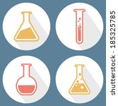 chemical tubes icons set. flat... | Shutterstock .eps vector #185325785