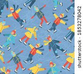 vector seamless pattern with... | Shutterstock .eps vector #1853278042