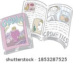 handwritten illustrations of... | Shutterstock .eps vector #1853287525