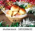 Mini Bread Rolls In Wicker...