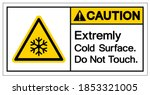 caution extremely cold surface... | Shutterstock .eps vector #1853321005