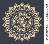 abstract circular ornament.... | Shutterstock .eps vector #1853332705