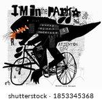 symbolic image of a dinosaur... | Shutterstock .eps vector #1853345368