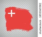 flag canton of schwyz brush...