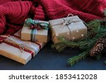 new year or christmas gift... | Shutterstock . vector #1853412028