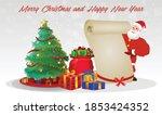 cartoon christmas santa claus ... | Shutterstock .eps vector #1853424352