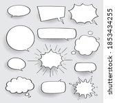 retro empty comic bubbles and... | Shutterstock .eps vector #1853434255