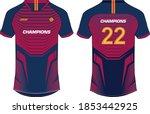 sports t shirt jersey design... | Shutterstock .eps vector #1853442925