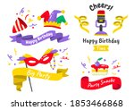 party label vector logo for... | Shutterstock .eps vector #1853466868