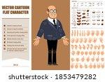 cartoon flat funny bald...   Shutterstock .eps vector #1853479282
