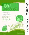 fresh local vegetables label... | Shutterstock .eps vector #1853480665