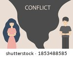 a conflict between a man and a... | Shutterstock .eps vector #1853488585