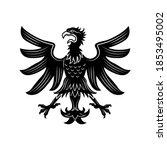 angry gloomy heraldic eagle...   Shutterstock .eps vector #1853495002