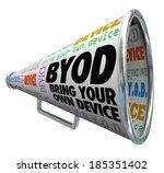 byod acronym bullhorn megaphone ... | Shutterstock . vector #185351402