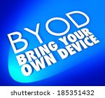 byod acronym bring your own... | Shutterstock . vector #185351432
