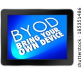 byod acronym tablet computer... | Shutterstock . vector #185351486