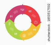 4 vector circle arrows... | Shutterstock .eps vector #1853517532