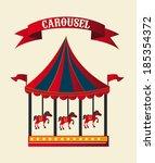 circus design over beige... | Shutterstock .eps vector #185354372
