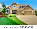 walkout deck with fire pit ... | Shutterstock . vector #185356052