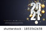 2021 happy new year. happy new... | Shutterstock .eps vector #1853562658